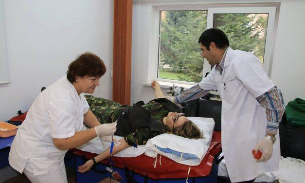Militarii de la Baza Aeriană din Câmpia Turzii au donat sânge