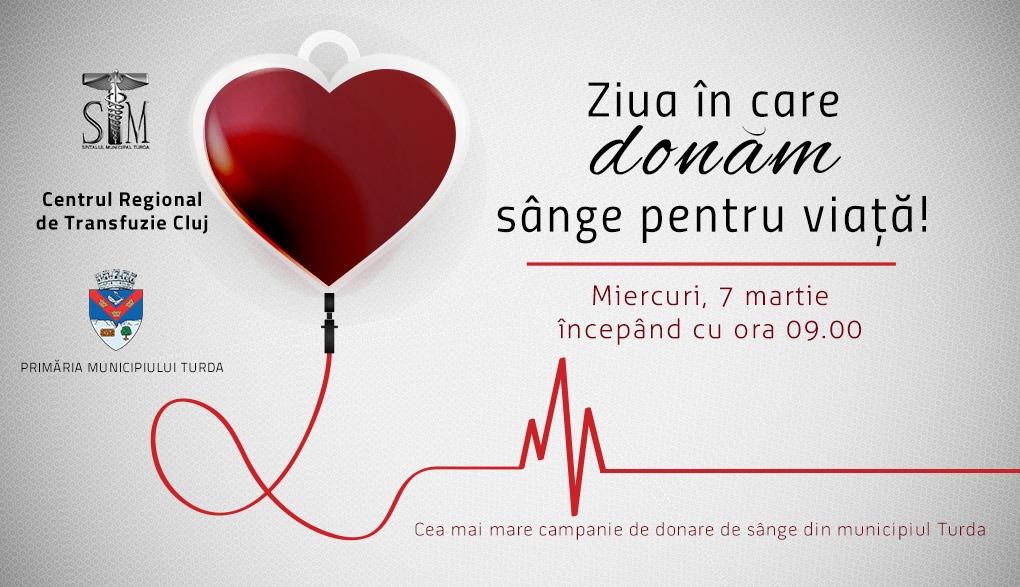Campanie amplă de donare de sânge la Turda. Ce condiții trebuie să îndeplinească donatorii