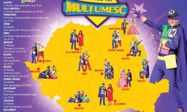"""Gașca Zurli anunță lansarea Turneului Național """"Lumea lui Mulțumesc"""""""