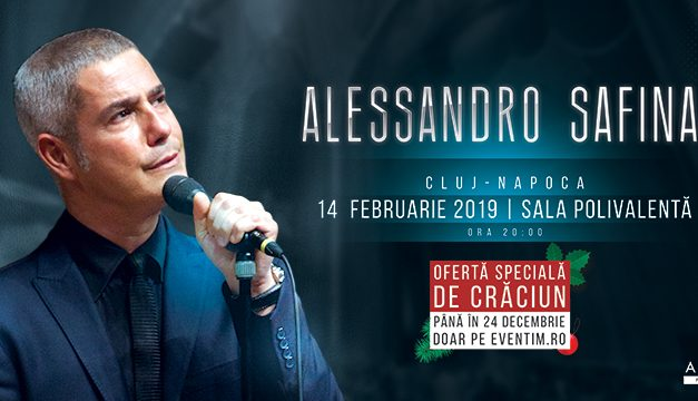 Tenorul Alessandro Safina revine la Cluj, după 2 ani. Concert de neratat, de Ziua Îndrăgostiților
