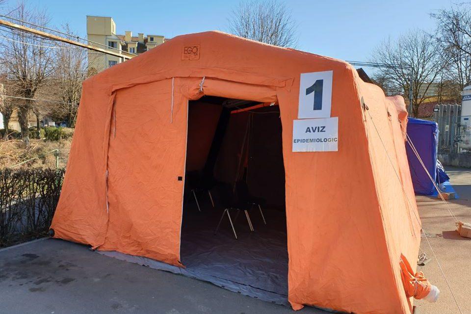 Copiii care ajung la UPU vor fi triați într-un cort amplasat în curtea Spitalului Clinic de Urgențe din Cluj