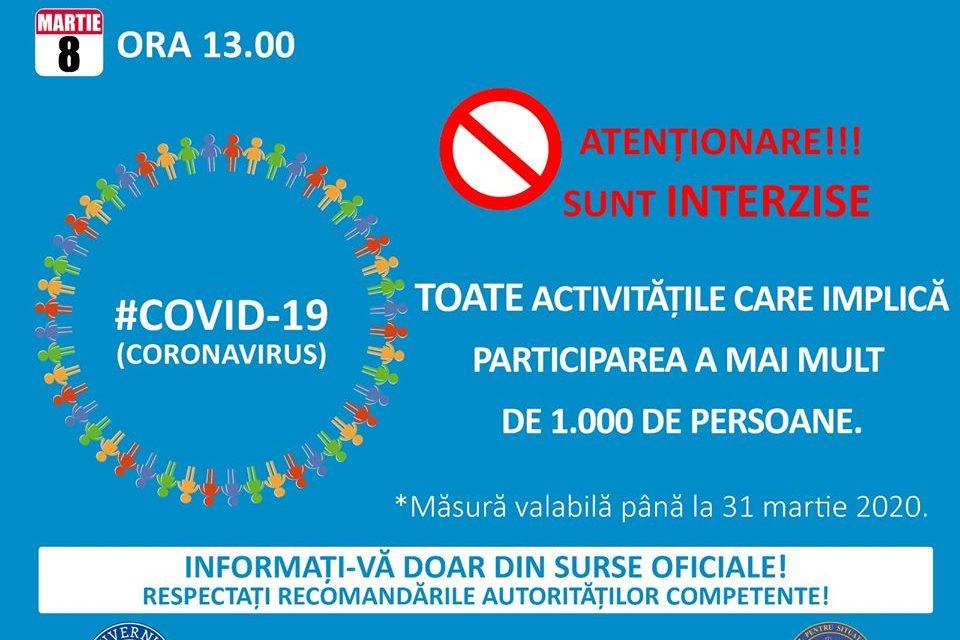 Coronavirus. Măsuri speciale instituite de autoritățile din România pentru limitarea răspândirii infecțiilor cu nCovid2019 VIDEO