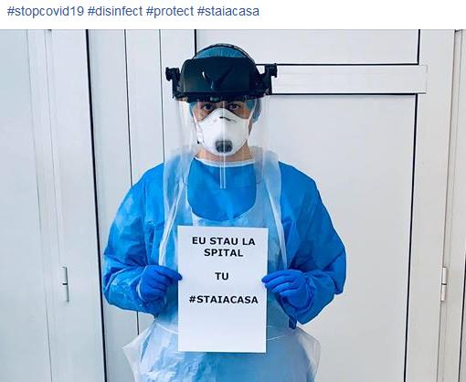Mesaj emoționant al unui medic de la Spitalul de Infecțioase din Cluj pentru a preveni infecția cu noul Coronavirus