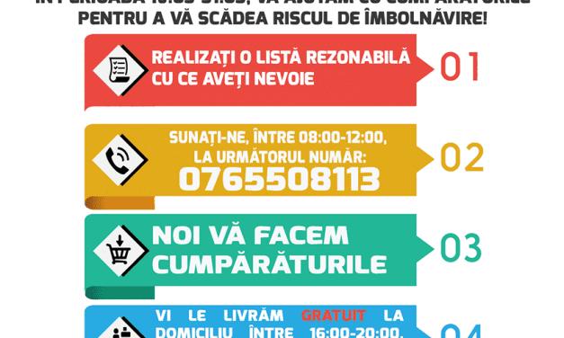Studenții mediciniști din Cluj fac cumpărături pentru vârstnicii expuși la infecția Coronavirus