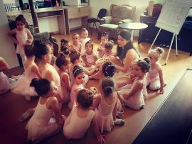 Polina and her little students