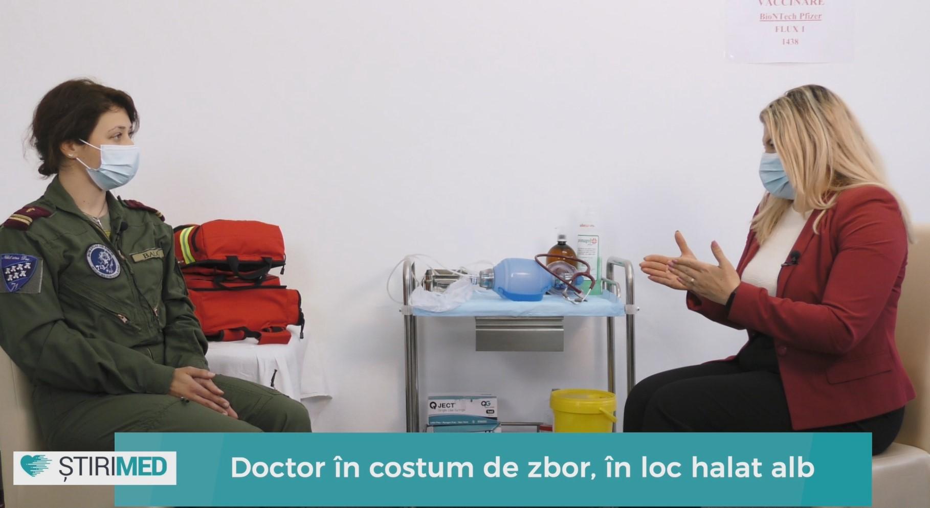 VIDEO Doctor la sol, dar și în aer. Lt. Dr. Carmen Balog, de la Baza 71 Aeriană, singura femeie medic de urgență, dintr-o Unitate Militară de Aviație, din țară