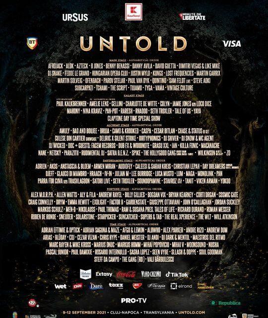 Untold, ediția de Pandemie: peste 200 de artiști confirmați și distracție în siguranță, fără distanțare